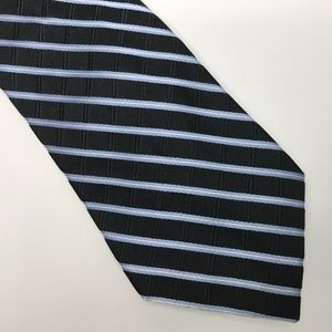 TOMMY HILFIGER Navy with Thin White Stripes Silk